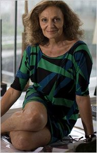 Diane von Furstenberg, fashion designer, creator of the body-hugging wrap dress so emblematic of 1970s fashion that it hangs in the Smithsonian Institution. She's also married to media mogul Barry Diller.