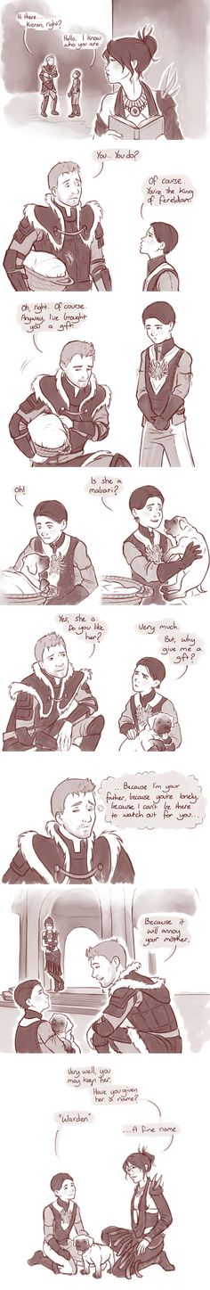 If King Alistair was able to interact with Morrigan and Kieran.