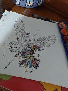 Búho geométrico dibujo #Arte #Draw