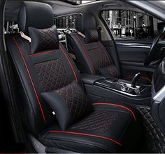 Gallop Universal Car Seat Covers XPE Leather Car Seat Cushion for Subaru Forester 20132016  Black and Red Stitches >>> Check this awesome product by going to the link at the image. (This is an affiliate link) #LeatherCarSeatCovers