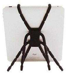 Aurora® 8 Foot Flexible Spiderman Stand Universal Stand / Holder / Mount for Tablets, Apple iPad 2, iPad 3, iPad Air, Motorola Xoom, Samsung Galaxy Tab, BlackBerry Playbook, Barnes and Noble Nook, Acer, ASUS(Black). 8 Legs are better than 3! Use it as a steady tripod or octopod. Car & Travel - Use it as a vent holder or hang on the back of the seat in front of you. Leisure & Outdoors - Wrap around bike handlebars, backpack, or baby stroller. Design Genius - Hole in the body designed to…