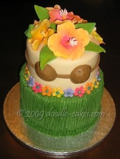 Thinking about doing a combined birthday for Trent and Livi as their birthdays are 3 days apart. Wanting to do a Hawaiian themed party at a hotel pool. This would be Livi's cake