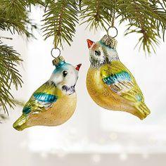 glass bird ornament