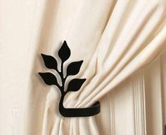 Leaf Tie Backs - Village Wrought Iron