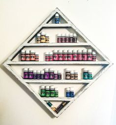 Essential oil shelf boho decir oil storage Diamond shelf