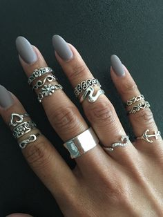 925 sterling silver Toe rings, Midi rings, Pinky rings, Knuckle rings, Adjustable Size.