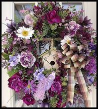 """Violet Delight"" Luxury Door Wreath"