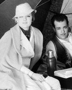 Myrna Loy y Ramon Novarro en el set de 'Una noche en El Cairo' (El árabe) (1933)