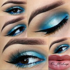 Beautiful Summer Blue Eye Look. Inspire by the the blue of the Ocean. Published in our Douglas Beauty Community DE and created by: vemakeup