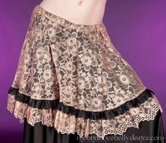 Beige Lace Over Skirt Belly Dance Outfit, Belly Dance Costumes, Bra Jewelry, Dance Skirts, Skirt Belt, Costume Accessories, Bra Tops, Oriental