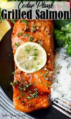 Cedar Plank grilled Salmon comes out perfect every time. You get all the flavor of the grill with a slightly smokey taste from the plank. Grilling Recipes, Fish Recipes, Seafood Recipes, Healthy Recipes, Recipies, Tilapia Recipes, Grilling Tips, Sweet Recipes, Clean Eating Snacks