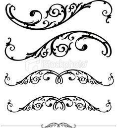 Scroll and ruleline design Royalty Free Stock Vector Art Illustration