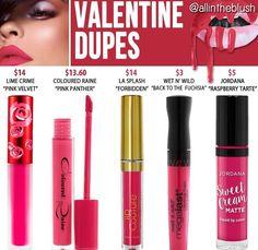 Kylie cosmetics liquid lipstick dupes in shade Valentine // Kayy Dubb