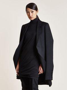 Thamanyah Women's Angora Wool Cape Jacket