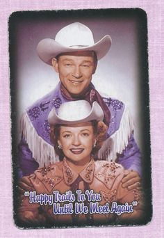 Roy Rogers Dale Evans cowboy playing card single swap king of clubs - 1 card