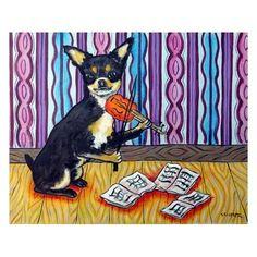 Chihuahua chihuahua art dog art dog violin fiddle by SCHMETZPETZ, $12.49