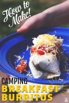How to Make Camping Breakfast Burritos - With Video!