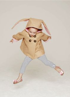adorable bunny coat by Little Goodall!