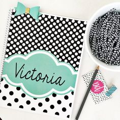 Personalized spiral personalized notebook by PaperDollDesignsShop