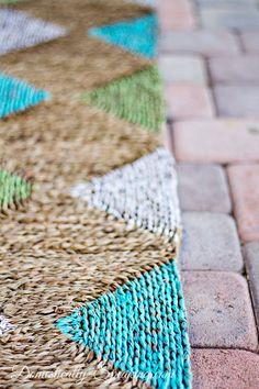 Diy Diamond Painted Outdoor Rug, Crafts, Flooring, Outdoor Living, Painting