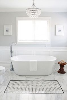 Entrancing Bathroom Paint Colors Valspar For Grey Wall Paint Colors Ideas And White Carrara Marble Tile Bathroom Flooring Also Ceiling Crystal Chandelier from Fancy Powder Room Grey Bathroom Paint, Light Grey Bathrooms, Best Bathroom Tiles, Bathroom Colors, Beautiful Bathrooms, Gray Paint, Bathroom Ideas, Bathroom Moulding, Bathroom Marble
