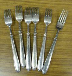18 8ステンレスフォーク 6本セット アンティーク カトラリー インテリア 雑貨 家具 Antique cutlery ¥1000yen 〆05月02日