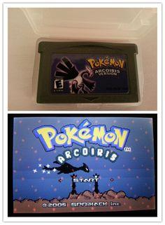 Pokemon games card  arcoiris english version for G-BA Game-boy Advance video game console