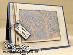 Impression Obsession Challenge~Winter Chill Shaker Card