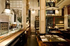 Big Fish - Borne > Restaurants > projects > Lázaro Rosa Violán - Contemporain Studio - An abundance of design details create a 'readable story' for a new restaurant.