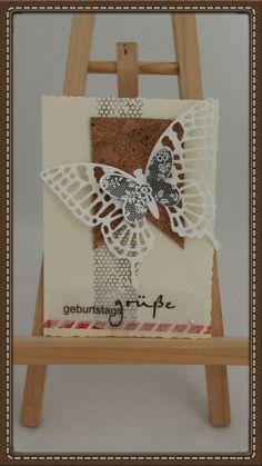 Ich liebe diese Schmettistanze von SU #Swallowtail #SU #Stampin'up #Schmetterling #Karte