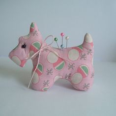 Scottie Dog Pincushion with Reproduction by BluebirdMountain, $17.50