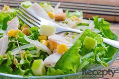 Právě začíná a bude pokračovat sezóna mladé a čerstvé zeleniny, která obsahuje vitamíny a nerostné látky a proto je pro naši výživu velmi cenná. N... Eat Right, Light Recipes, Salad Dressing, Cantaloupe, Spinach, Salads, Meals, Chicken, Dinner