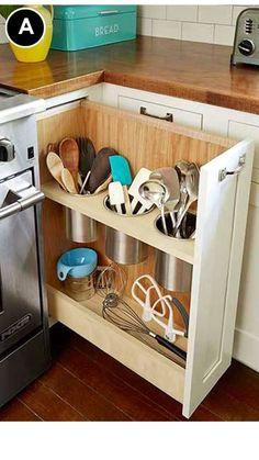 New DIY kitchen drawers - Kitchen Decor Tidy Kitchen, Diy Kitchen Storage, New Kitchen Cabinets, Kitchen Drawers, Kitchen Tops, Kitchen Redo, Kitchen Organization, Kitchen And Bath, Kitchen Utensils