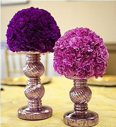 More shades of deep purple and lavender to use with bouquets