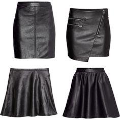 """""""h&m falda cuero"""" by naiaraparraferre on Polyvore"""