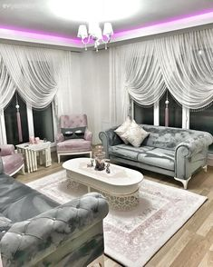 House Interior Design Ideas - Inspirational Interior Design Ideas for Living Room Design, Bed Room Design, Kitchen Style and the whole residence. Curtains Living Room, Luxury Dining Room, Home Room Design, Living Room Decor Apartment, Luxury Living Room, Living Room Designs, House Interior, Room Decor, Apartment Decor
