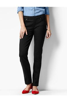 The Flawless Five-Pocket Slim Ankle - Black - Talbots