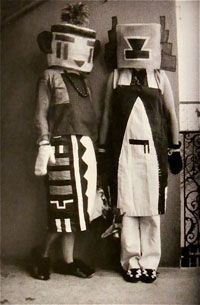 Sophie and Erika Taeuber (Hopi Indian Costumes) - Sophie Taeuber-Arp Sophie Taeuber, Neo Dada, Hopi Indians, Indian Costumes, Constructivism, 20th Century Fashion, Textiles, Art Moderne, Modern Graphic Design