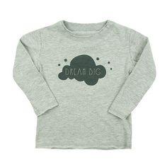 'dream big' long sleeve tee Infant Clothing, Dream Big, Organic Cotton, All Things, Long Sleeve Tees, Canada, Live, Sweatshirts, How To Make