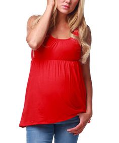 Look what I found on #zulily! Red Maternity Tank - Women by PinkBlush Maternity #zulilyfinds