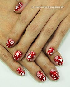 Christmas Wrapper Nail Art Design by Simply Rins