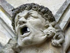 Gargoyle, Salisbury Cathedral. The south elevation of the Cathedral church is rich in carvings, figures and gargoyles.