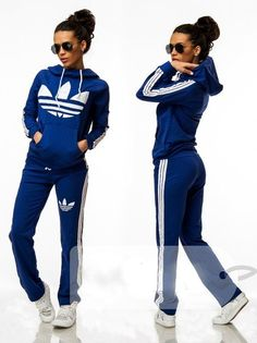 Article CDF0063 #hood #tracksuit Order of this product only by wholesale catalog at our website. Stylish womens hooded blue tracksuit.