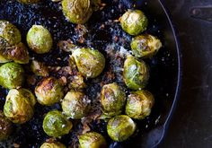 Roasted Brussels Sprouts - This is THE recipe that got my husband and me obsessed with brussel sprouts. Also, I like doubled the requested amount of garlic because why not?!