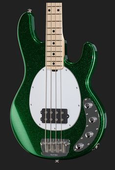 Whoa! Music Man Stingray in sparkle green finish.