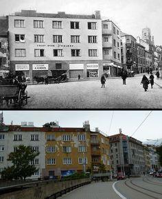 Zámocká, Židovská a časť Kapucískej ulice Bratislava, Old Photos, Nostalgia, Street View, Building, Photos, Movie Theater, History, Antique Photos
