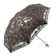 Elegant Embroidery Lace Flower Anti UV Sun Folding Umbrella Parasol Ladies Shade for sale online Lace Umbrella, Best Umbrella, Lace Parasol, Vintage Umbrella, Folding Umbrella, Under My Umbrella, Transparent Umbrella, Sun Parasol, Umbrellas For Sale