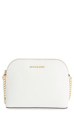 white michael kors crossbody bag