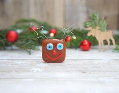 Rudolph the red nosed fridge magnet