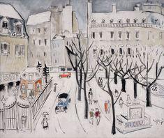 Paris Snow Scene - Christopher Wood - WikiArt.org